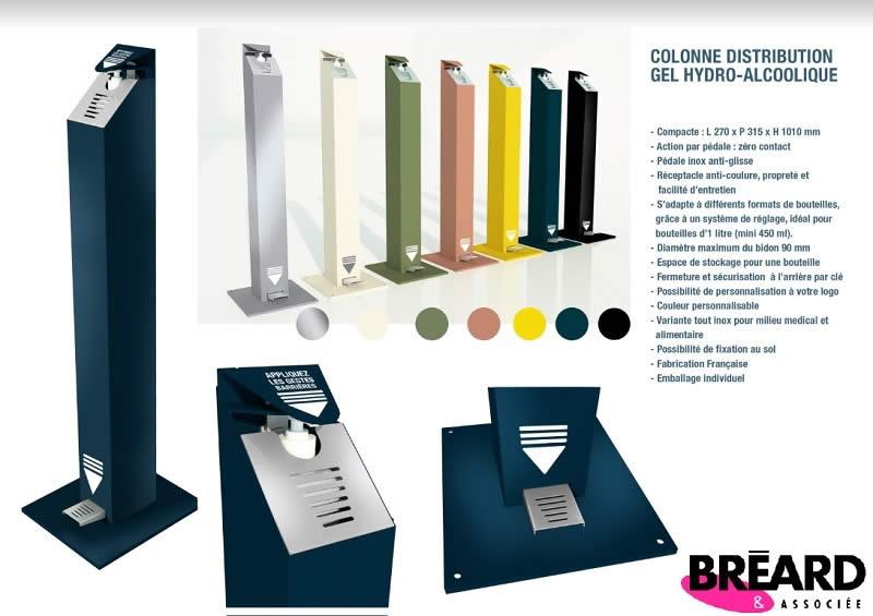colonne gel hydroalcoolique automatique