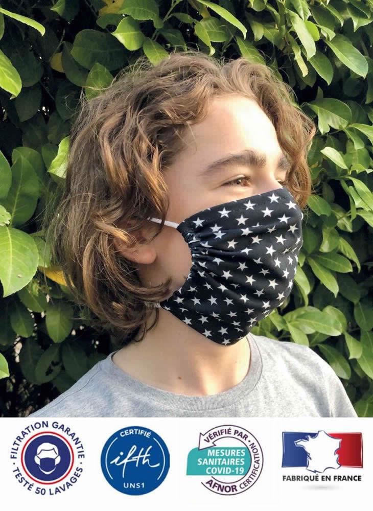 masque afnor enfant 50 lavages