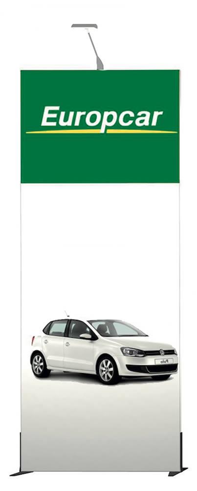 cadre en tissu tendu Europcar