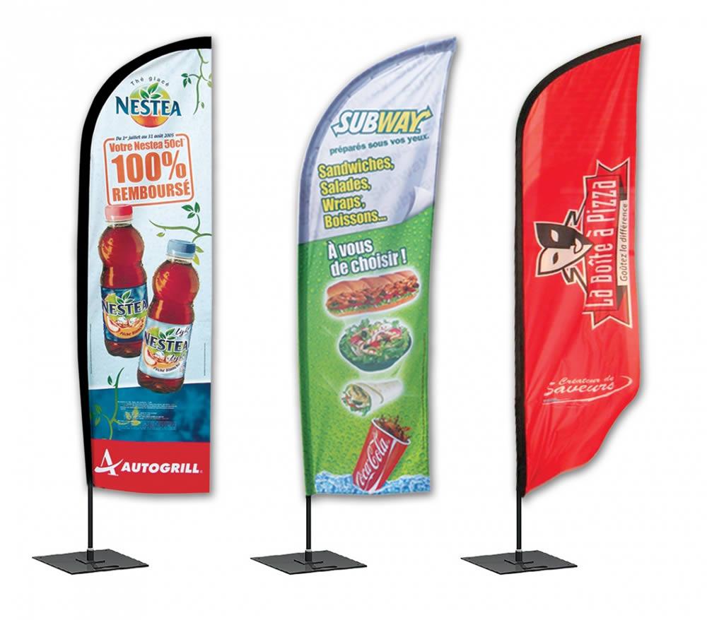 drapeau publicitaire pizza