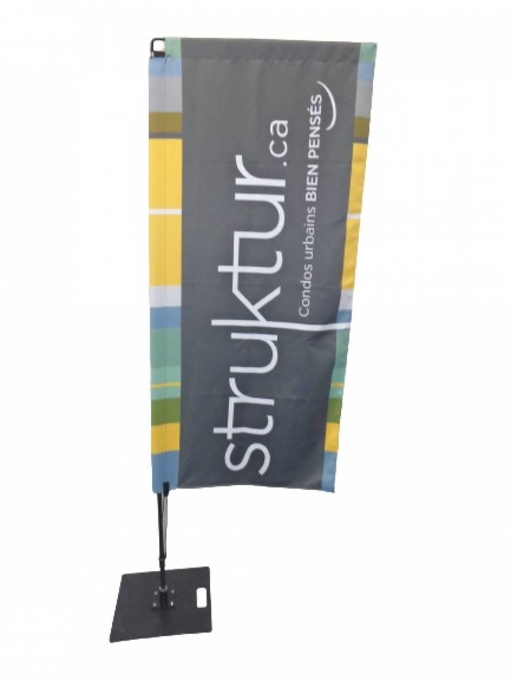 drapeau publicitaire rectangle