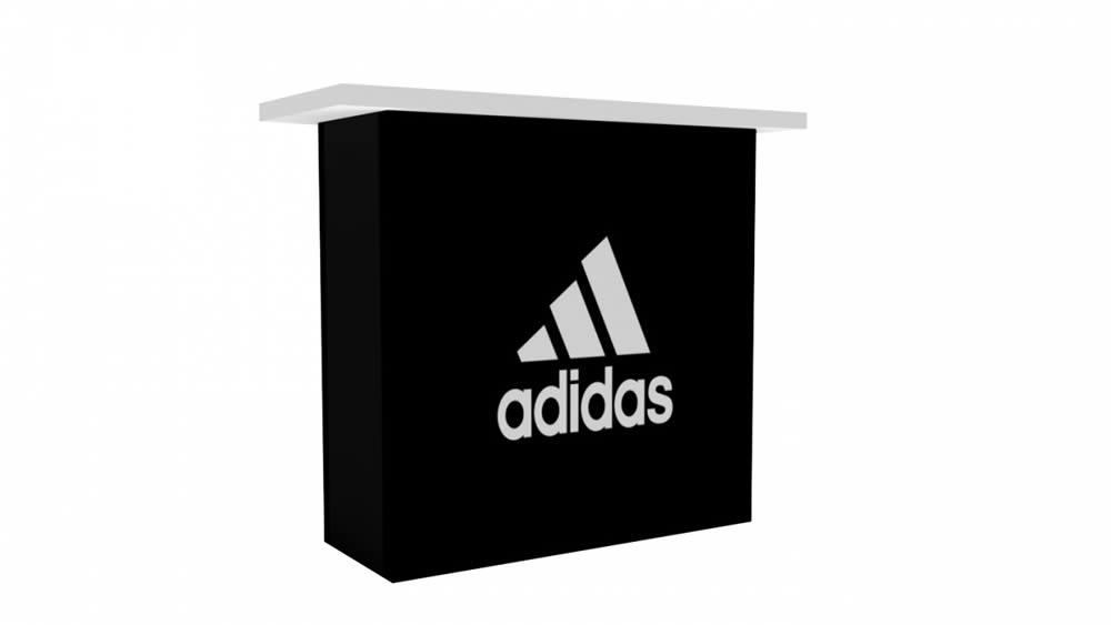 grand comptoir avec porte à clé Adidas