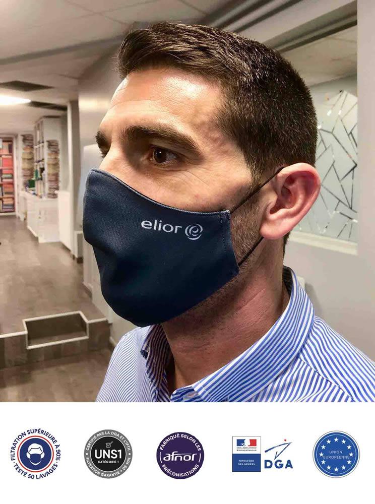 masque ergonomique personnalisé anti covid