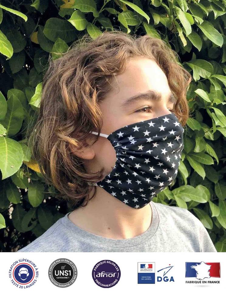 masque pochon enfant en tissu