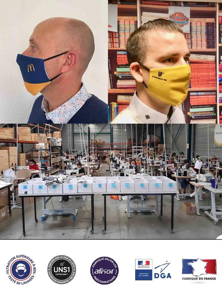 masque tissu premium 50 lavages afnor