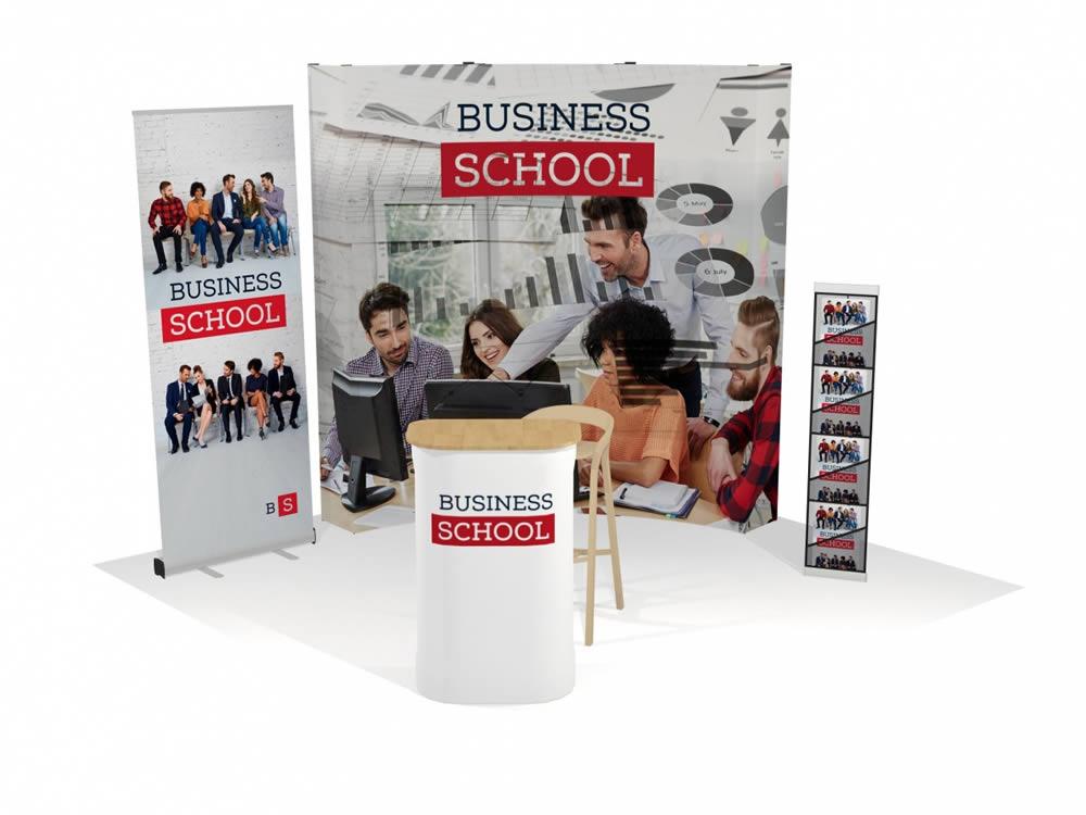 matériel d'exposition pour salon Business School