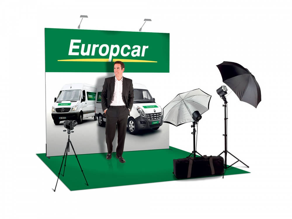 mur autoportant grand format en tissu Europcar