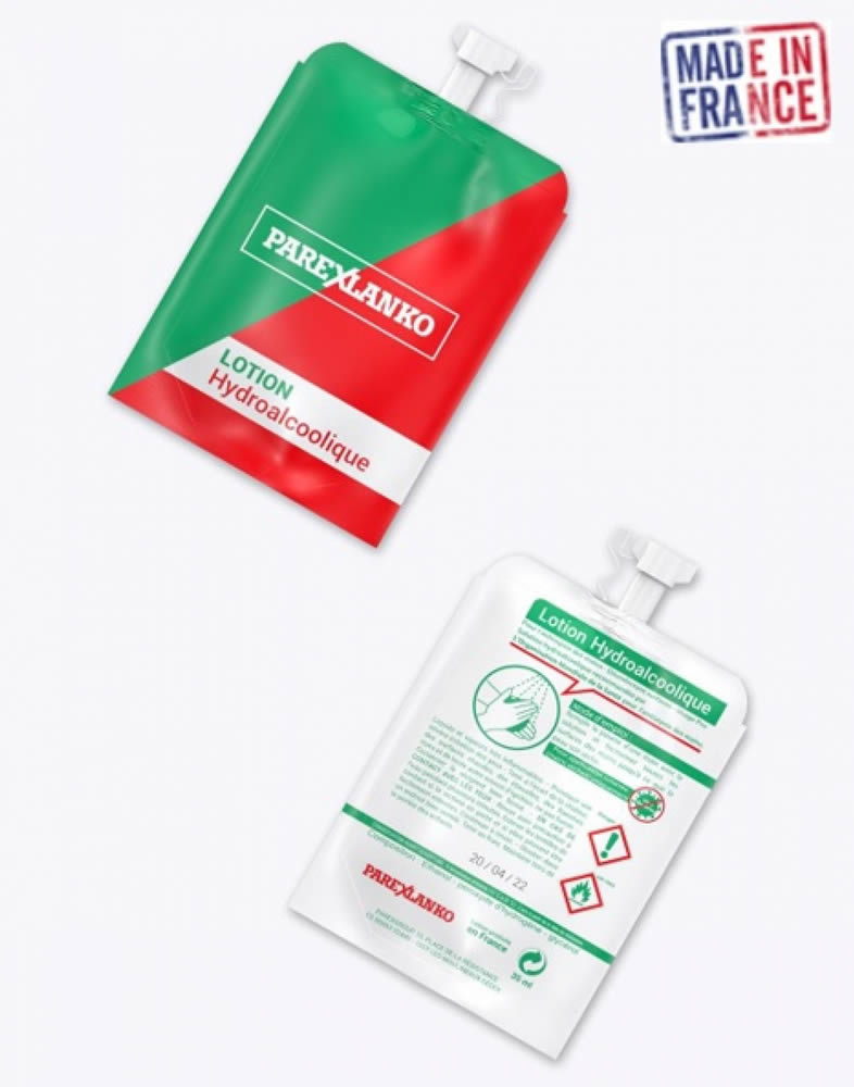 pochon gel hydroalcoolique publicitaire de qualité francaise