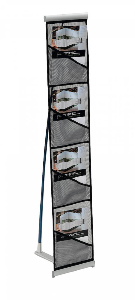 Présentoir porte brochures textile