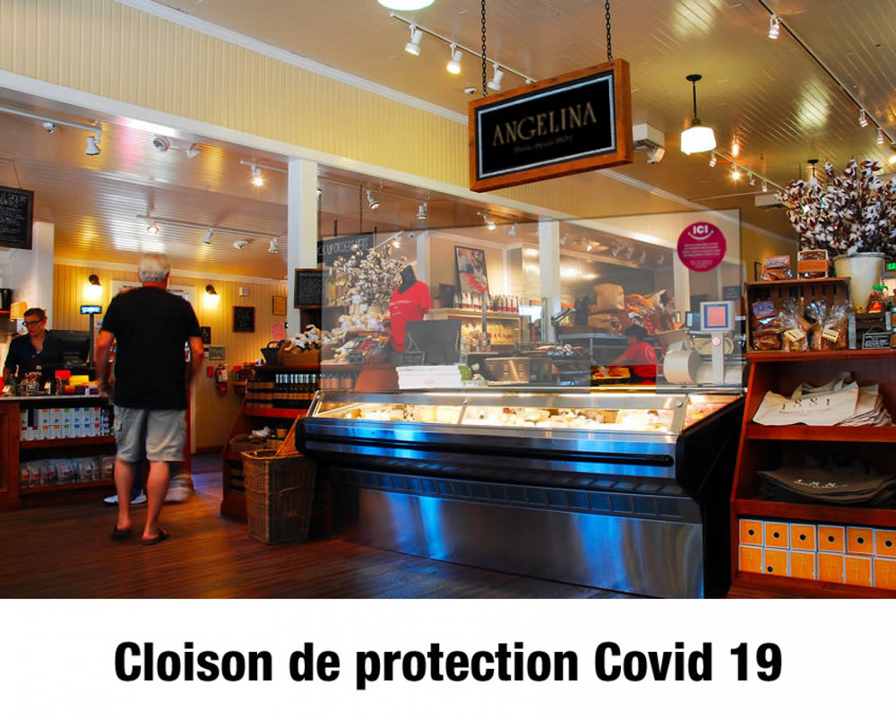 protection magasin avec cloison covid19