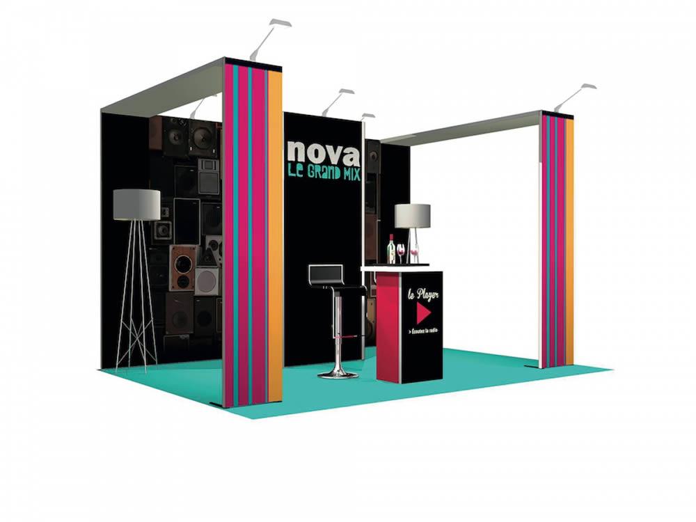 Stand modulaire Radio Nova