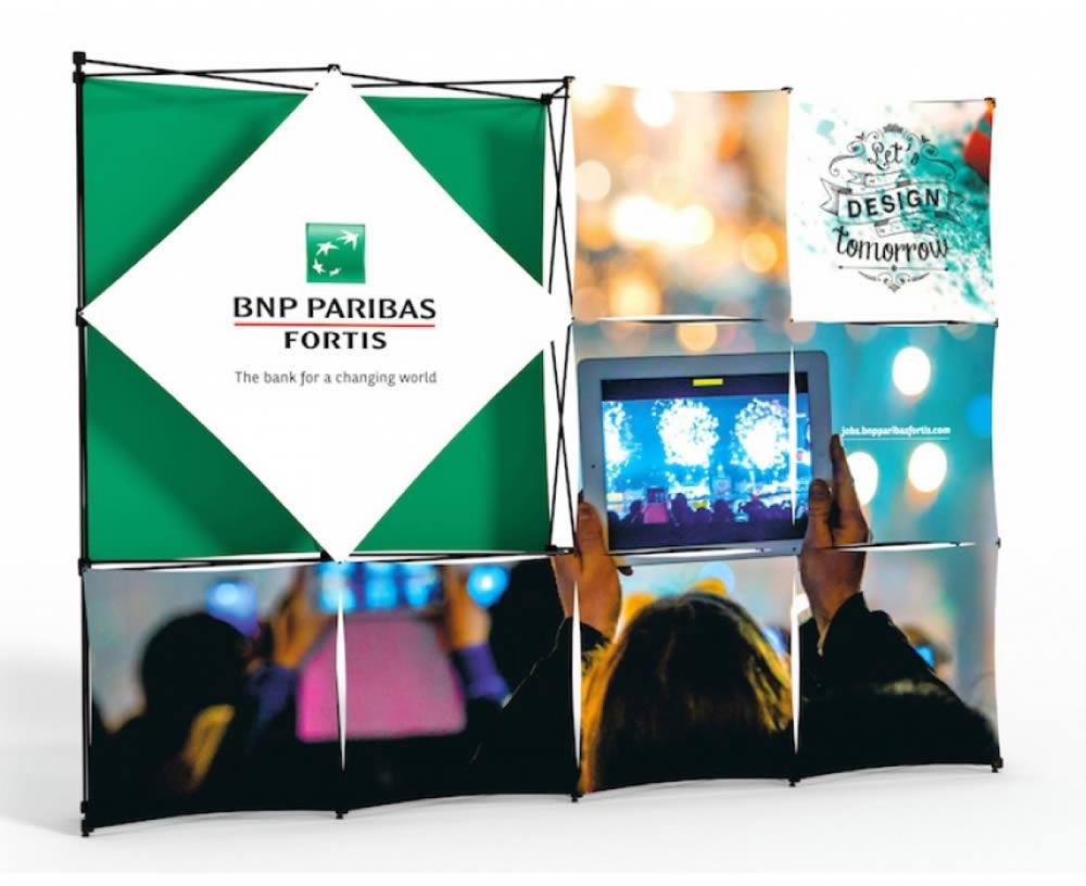stand parapluie BNP Paris Bas