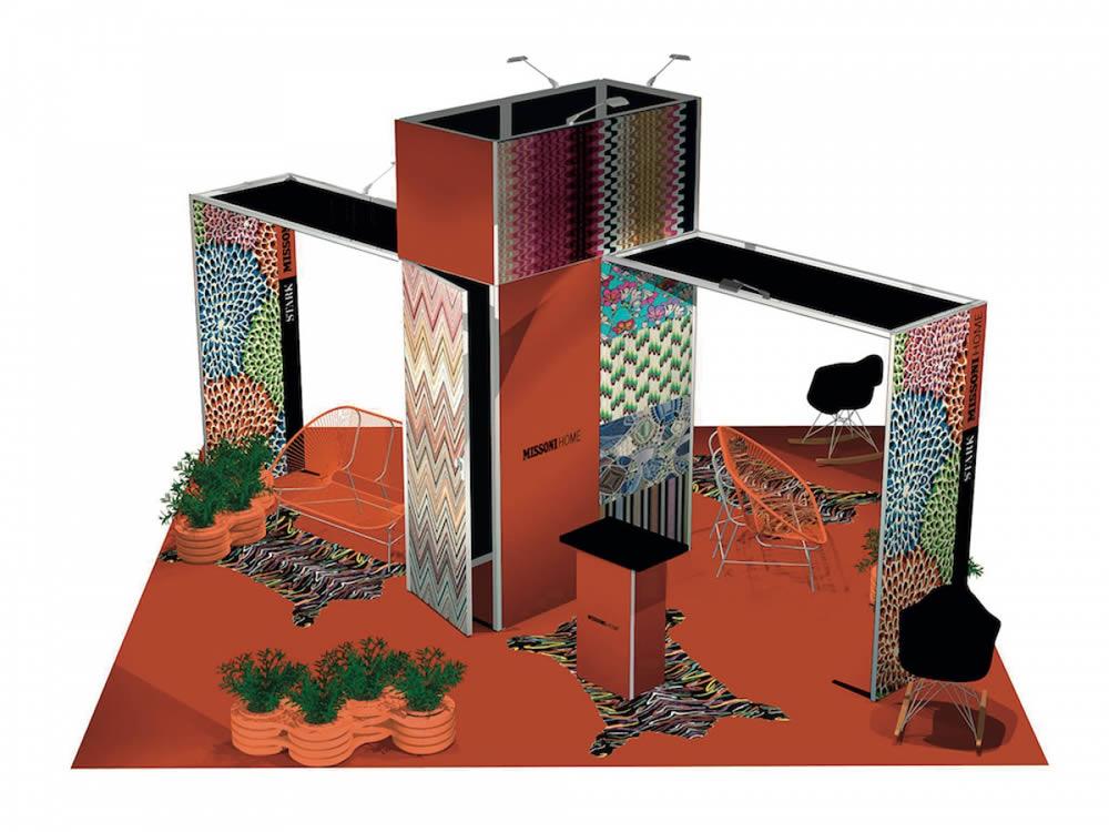 stand reconfigurable avec arche et réserve