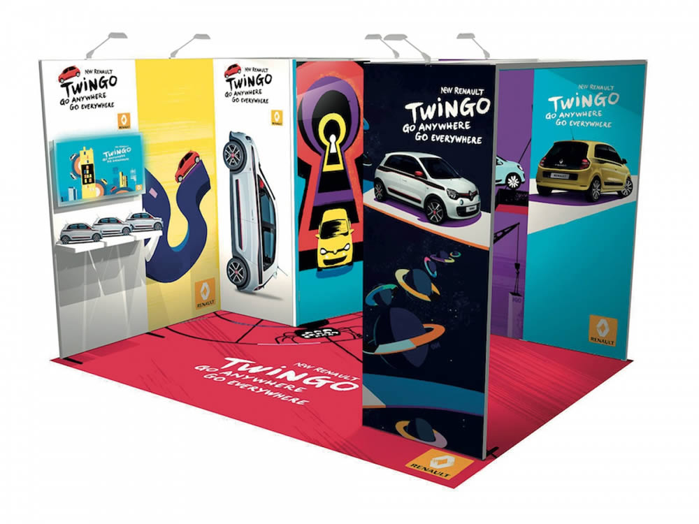 stand reconfigurable Renault Twingo