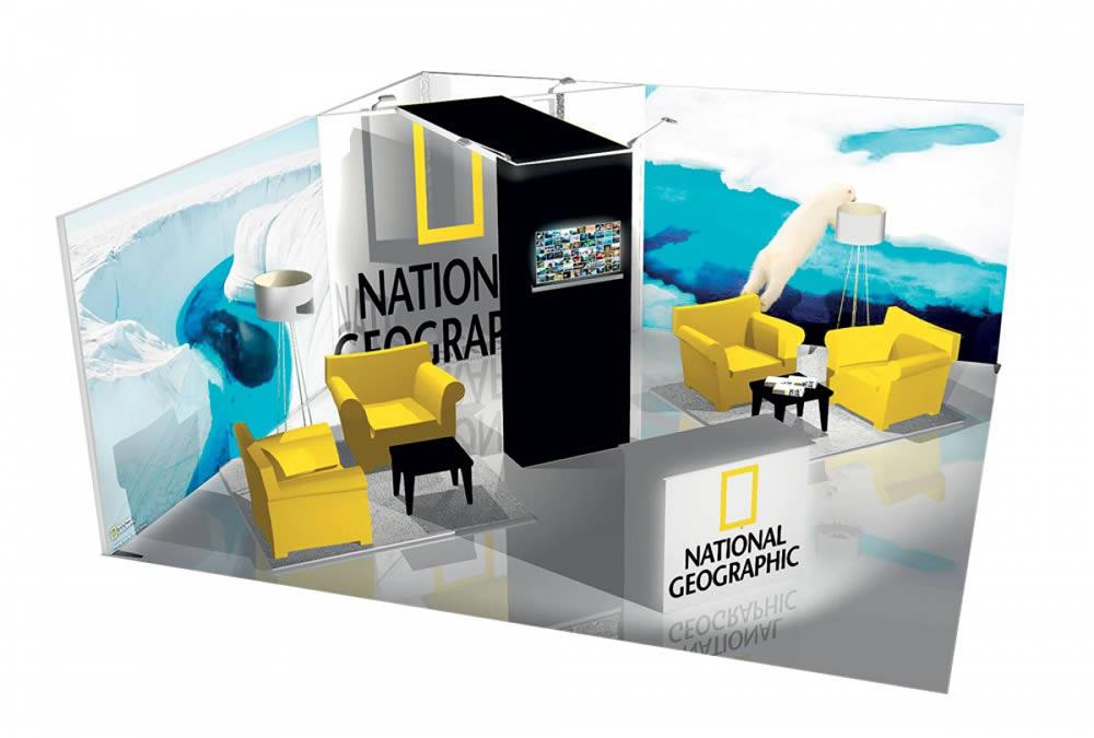 stand tissu tendu sur mesure Nation Geographic