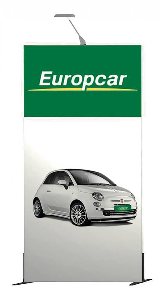 structure cadre tissu tendu Europcar