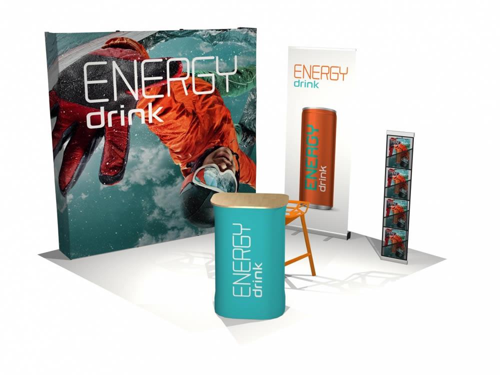 structure d'expo Energy Drink Paris