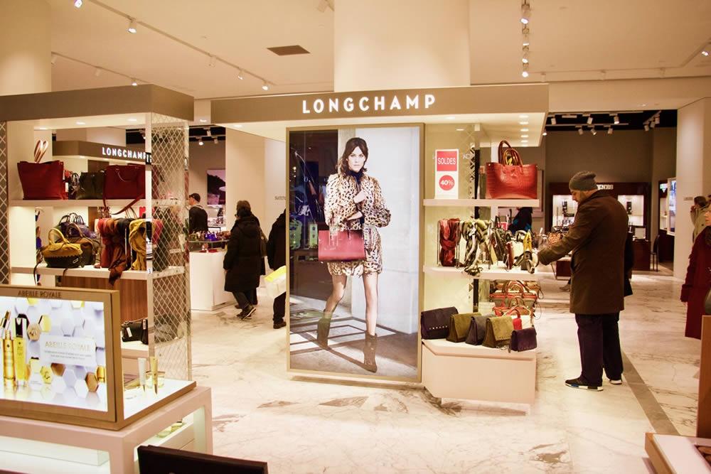 visuel rétroéclairé Longchamp