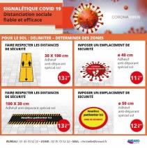 adhésifs de signalétique préventive covid 19