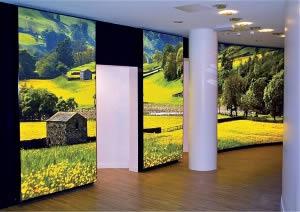 cadre lumineux dans musée