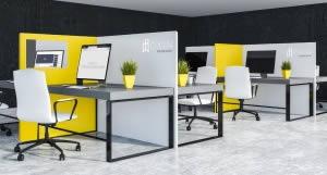 Cloison bureau en L