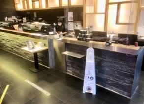 distributeur gel hydroalcoolique sans contact pour restaurant