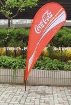 drapeau publicité Coca-Cola