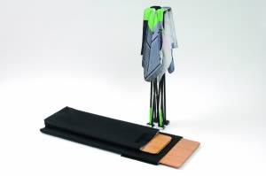 étagère en bois pour comptoir tissu