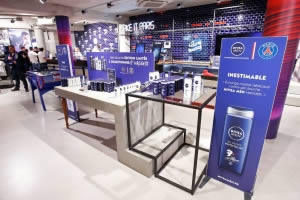habillage NIVEA boutique officielle PSG