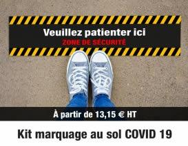 Kit Marquage au sol covid 19