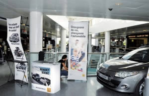 Kit pour salon exposition Renault