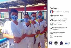 Masque tissu personnalisé Afnor