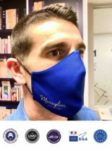 masque ergonomique personnalisé avec logo entreprise