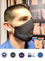 masque noir personnalisé afnor