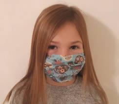 masque pour enfant personnalisé en tissu