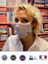 masque tissu avec logo vuitton