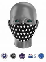masque tissu enfant uns1 avec motif étoiles