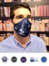 masque tissu personnalisable lavable 50 fois afnor