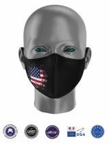masque tissu uns1 avec drapeau usa