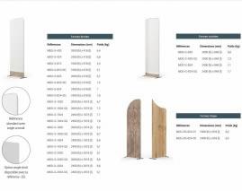 modèles de séparateurs d'espace en tissu design