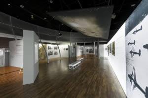 mur rétroéclairé musée vue en perspective