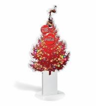 PLV sapin de noël Coca-Cola