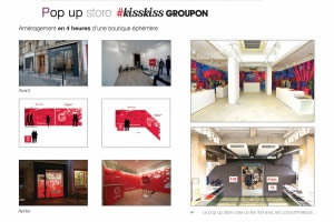 Pop up store avec Pop up Store KissKiss GROUPON