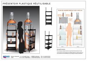présentation PLV plastique réutilisable