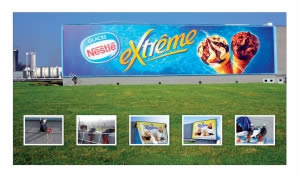 publicité géante Nestlé