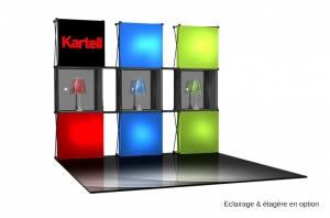 solution matériel d'exposition transportable