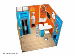 Stand reconfigurable 9m²