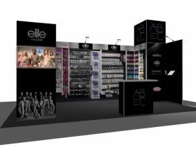 stand AB Cosmetic rendu 3D