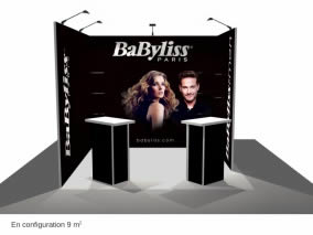 stand Babyliss rendu 3D