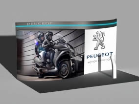 stand courbe Peugeot 3D